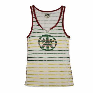 Vintage Lucky Brand Peace Sign Cami Tank Top Large